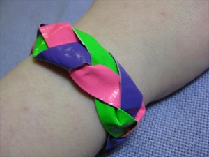 Braided Duct Tape Bracelet