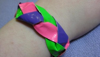 Braided Duct Tape Bracelet Tutorial