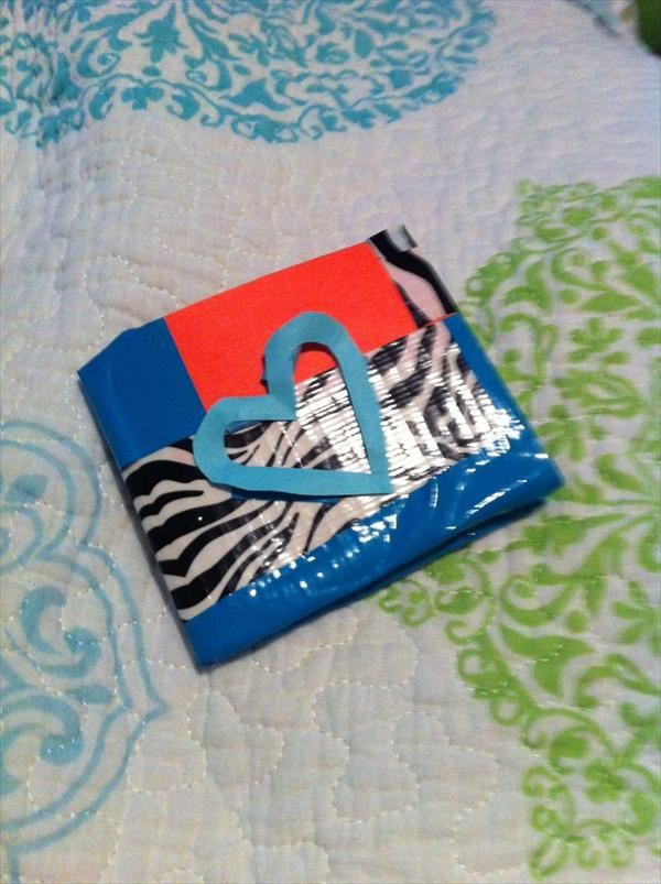 Heart Duct Tape Wallet