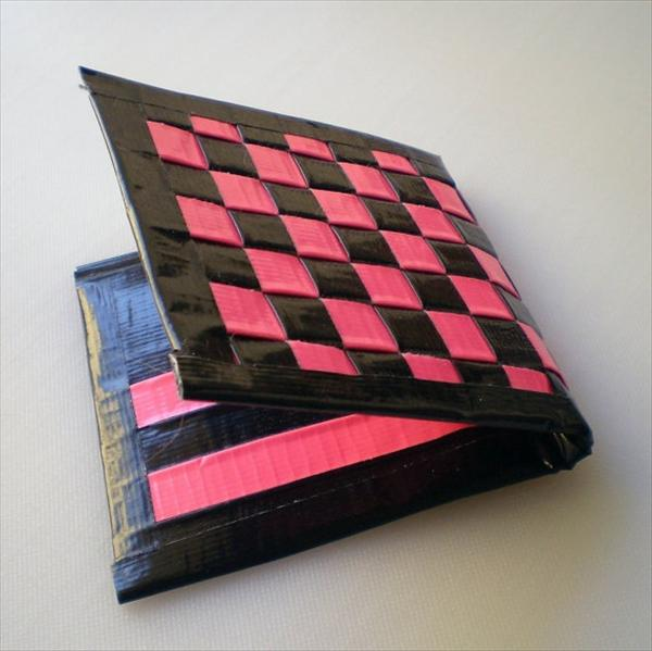 Pink and Black Duct Tape Wallet
