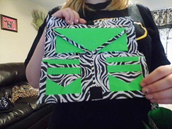 Green and Black Duct Tape Wallet