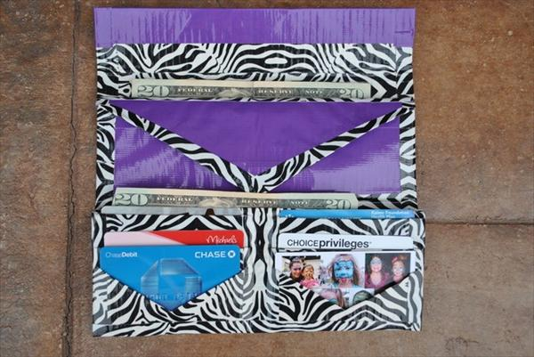 Zebra Lines Duct Tape Wallet