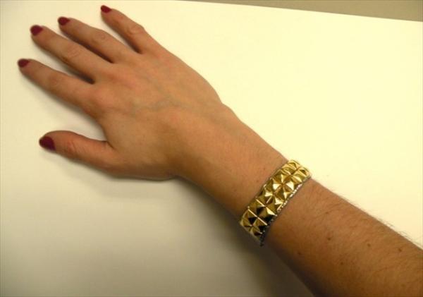 DIY Studded Duct tape Bracelet