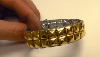 DIY Studded Duct tape Bracelet