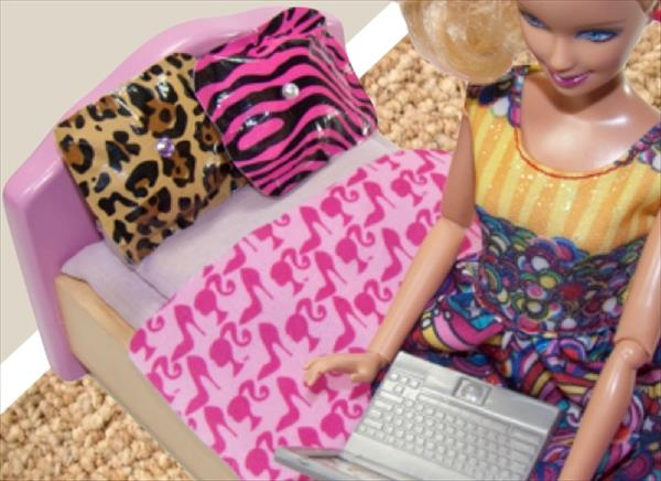 Duct Tape Barbie Pillows