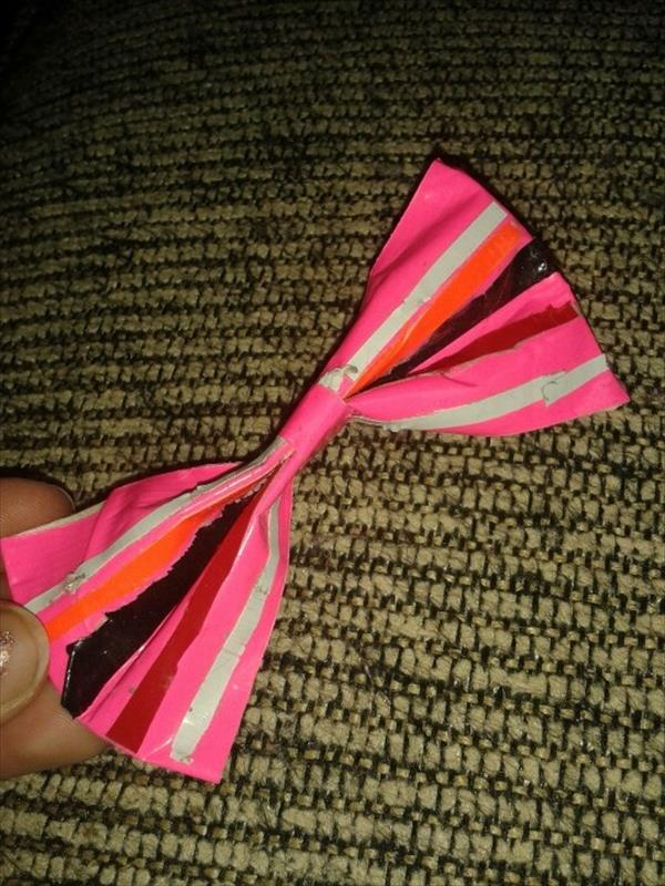duct tape bow
