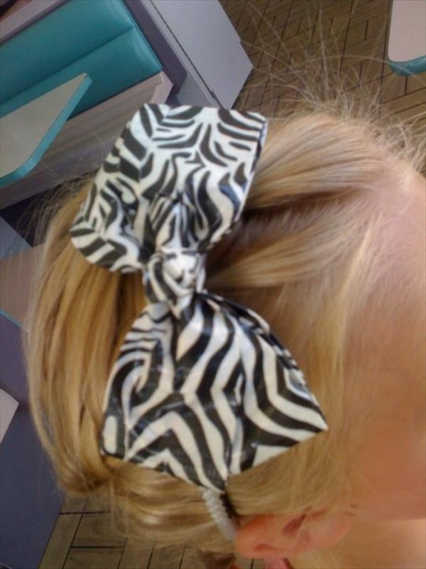 duct tape bow for hair