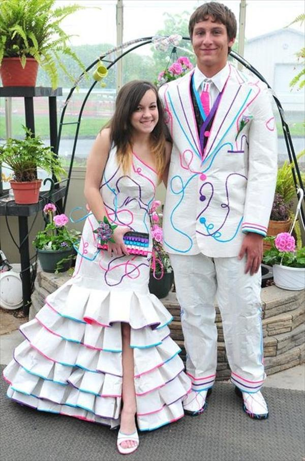 Dress made of duct tape images for Duct tape bedroom ideas