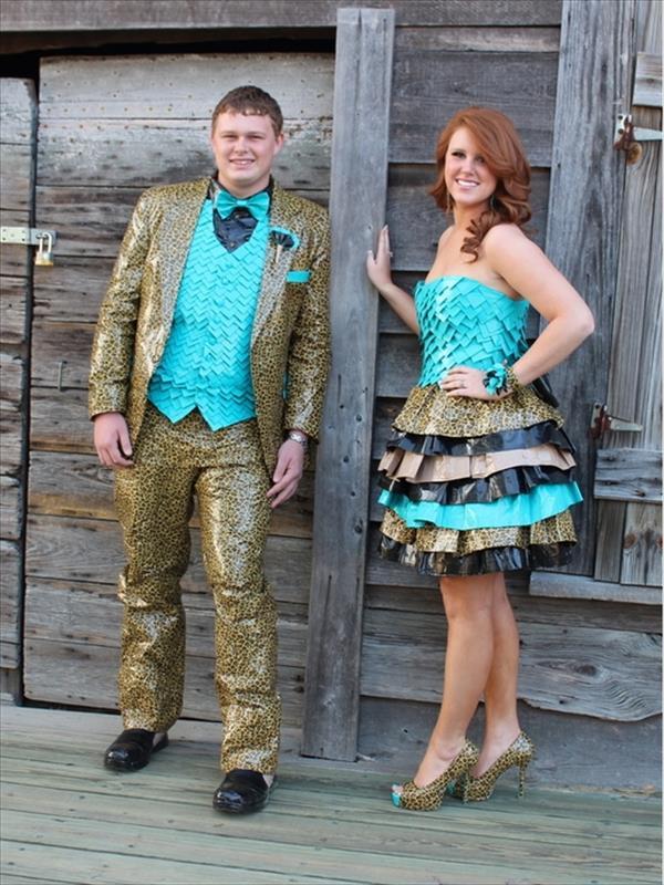 DIY Prom Duct Tape Dress