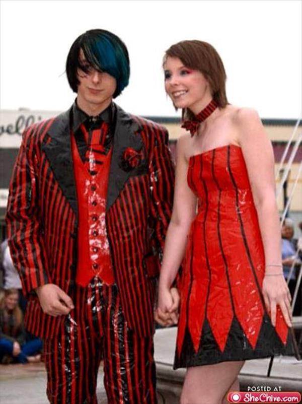 Colorful Duct Tape Dresses for prom