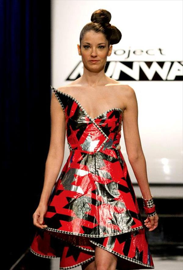 Short Red Duct Tape Dress
