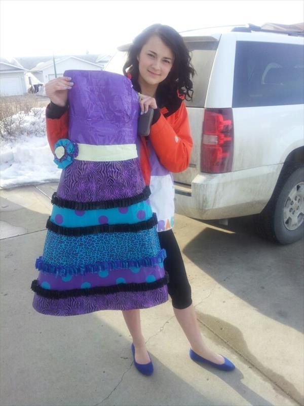 Short Duct Tape Dress