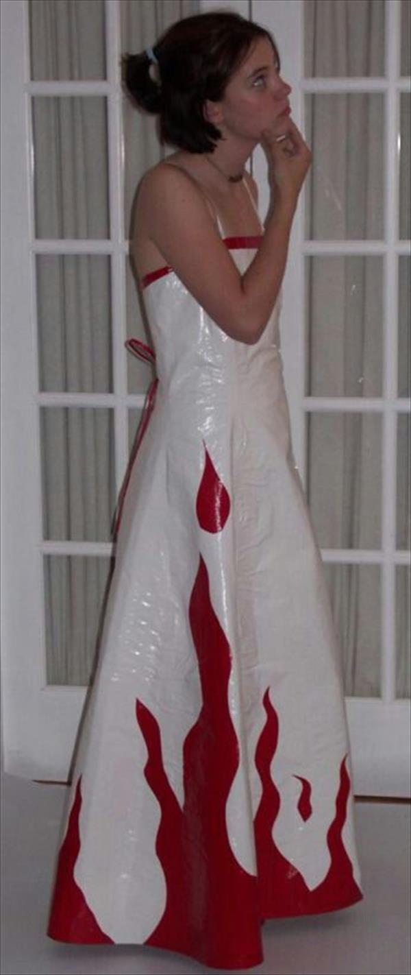 White Duct Tape Dress