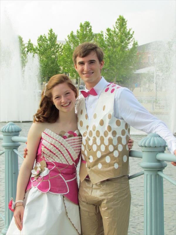 Prom Duct Tape Dress