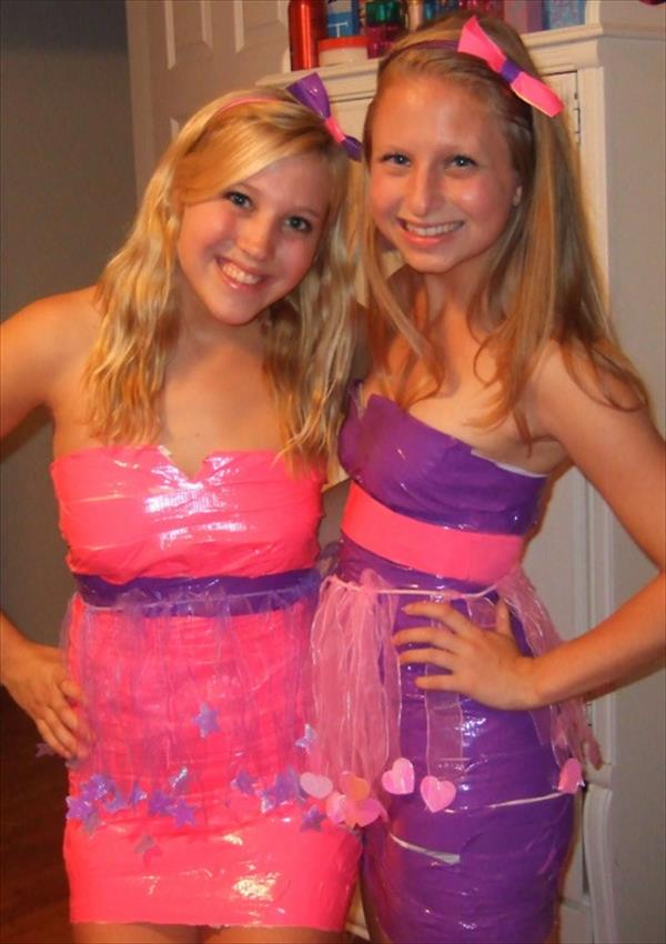 Colorful Duct Tape Dresses for girls