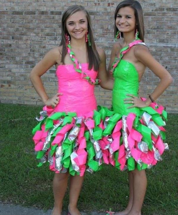 Simple duct tape dresses pictures