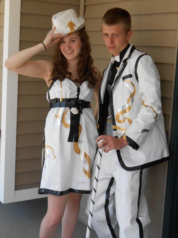 White Duct Tape Dresses