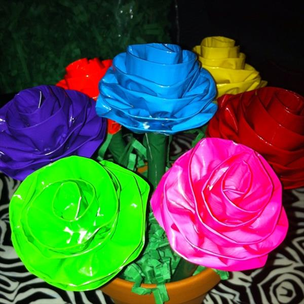 Different Duct Tape Flowers