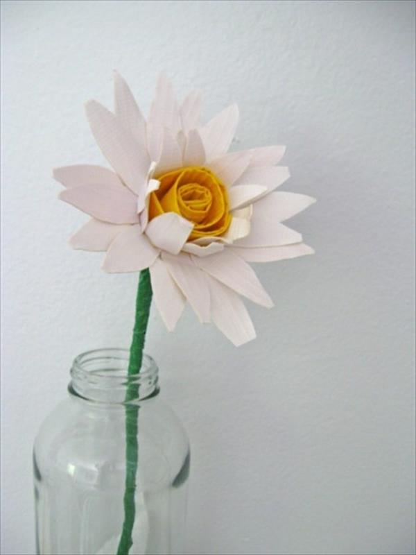 White Duct Tape Flower