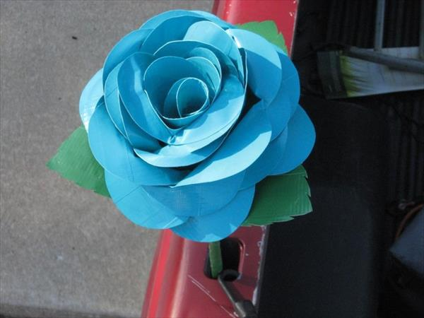 Sky Color Duct Tape Flowers