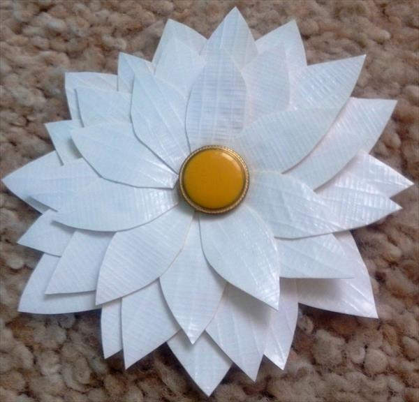 White Duct Tape Flowers