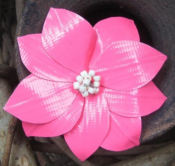 20 easy duct tape flowers 101 duct tape crafts for Duck tape craft ideas