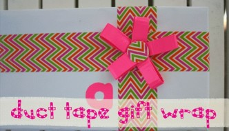 DIY Gift Wrapping Trick with Duct Tape