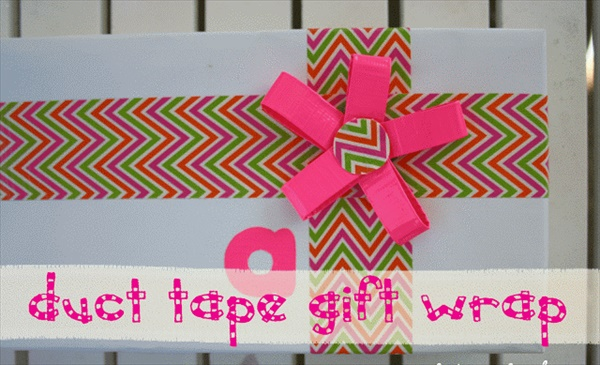 Gift Wrapping with Duct Tape