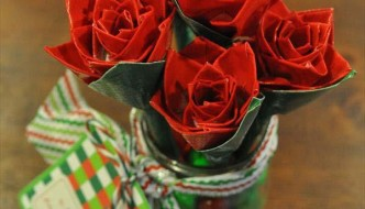 Make a Duct Tape Rose Bouquet