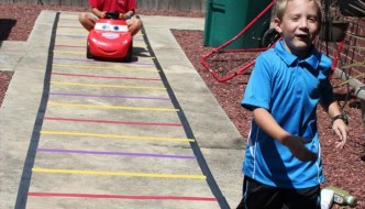 Kids Train Track with Duct Tape