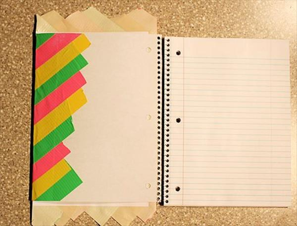 Duct Tape Book Cover Tutorial : Diy duct tape notebook cover tutorial crafts