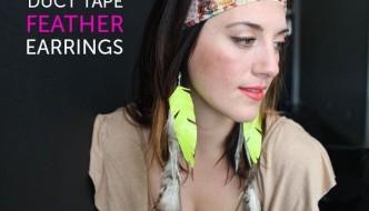 DIY Duct Tape Earrings