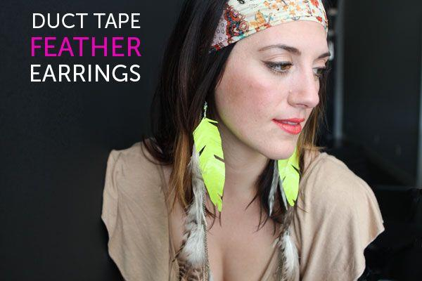 DIY Duct Tape Earrings