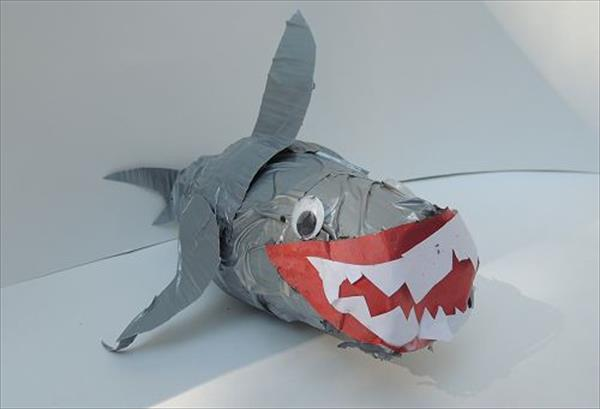 Duct Tape Paper Cup Shark DIY