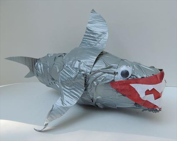 Duct Tape Paper Cup Shark