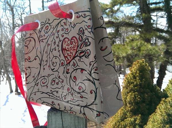 home prepared duct tape purse