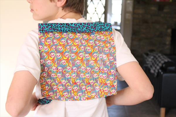 handmade duct tape back pack