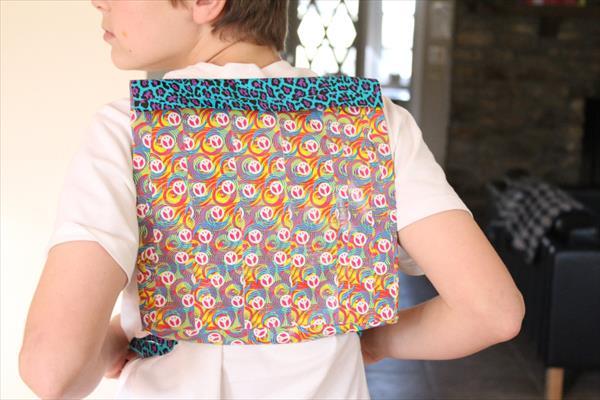 handmade duct tape back pack