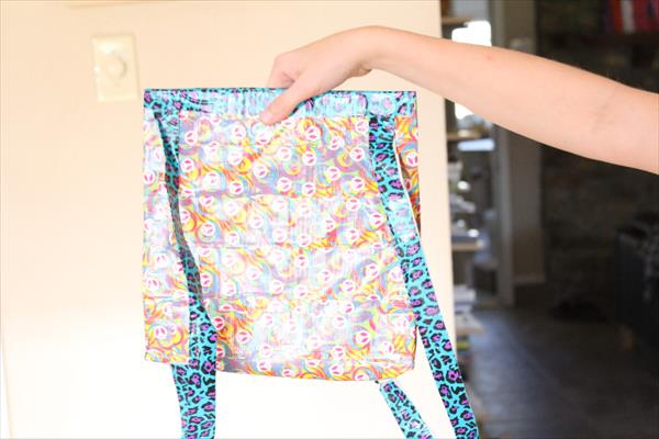 self made duct tape back pack
