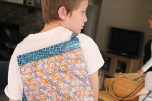 back pack out of duct tape