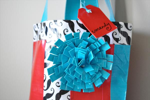 handcrafted duct tape bag