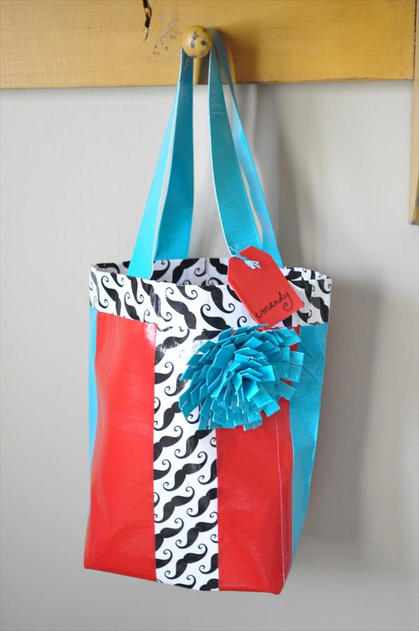 home produced duct tape bag