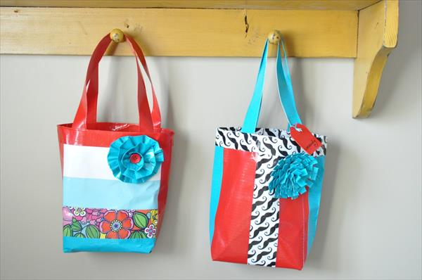 diy duct tape bags