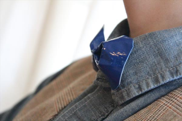handmade bowtie through duct tape