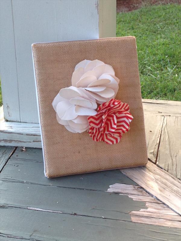 handmade duct tape flower wall art
