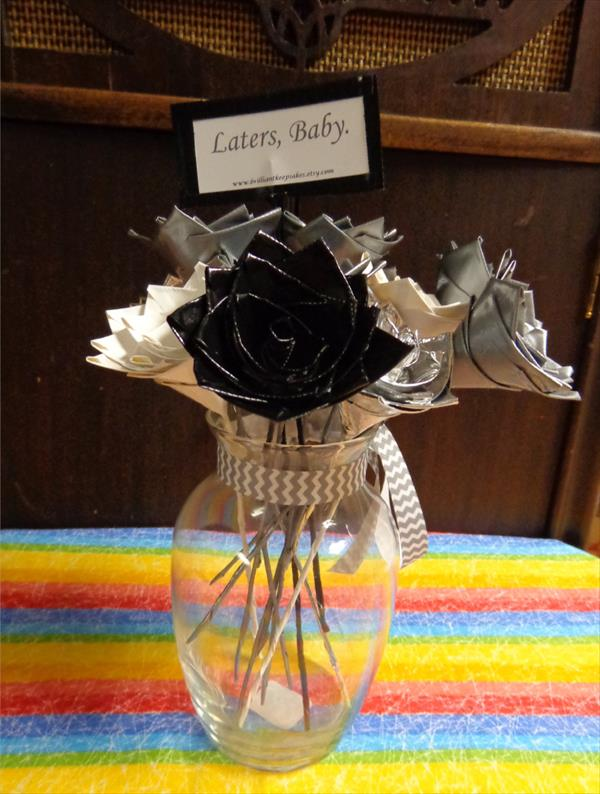 handmade duct tape flowers