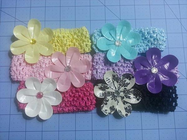 handmade duct tape headband flower