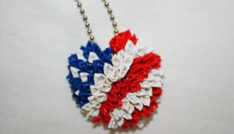 DIY Duct Tape American Heart Necklace