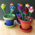home prepared duct tape pen flowers