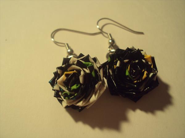 handmade duct tape earrings